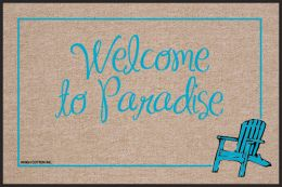 Welcome to Paradise Olefin  Indoor & Outdoor Floor Mat