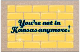Humorous Indoor/Outdoor Welcome Mat - Not in Kansas Anymore