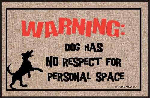 Funny Pet Dog Doormat Humorous Respect Floor Mat