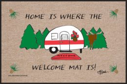 Home is Where the Welcome Mat Is Indoor/Outdoor Doormat