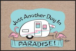 Another Day In Paradise Humorous Non-Slip Welcome Doormat