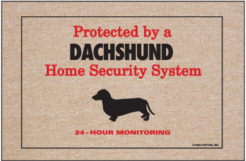 Expert Car Care >> Home Security Dachshund Doormat