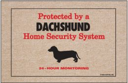 Home Security Dachshund Doormat