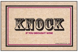 Olefin Indoor & Outdoor Doormat - Wine Knock