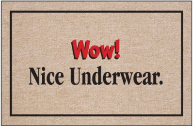 Wow! Nice Underwear Doormat
