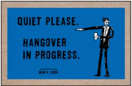 Humorous Indoor & Outdoor Welcome Mat - Quiet Please