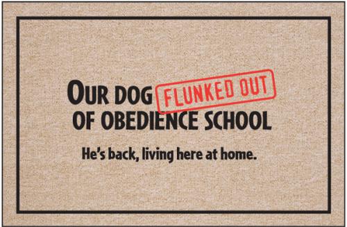 Obedience School Doormat