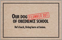 Obedience School Doormat