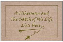 Olefin Indoor & Outdoor Doormat - Fisherman & Catch