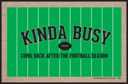 Football Kinda Busy Funny Doormat - Humorous Welcome Mat