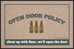 Open Door Policy - Beer Doormat