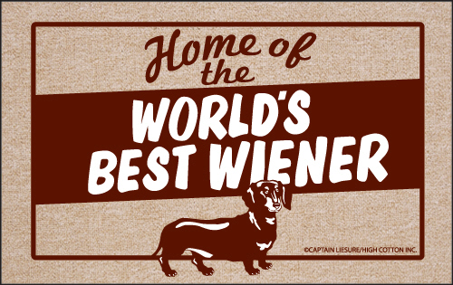 World S Best Weiner Funny Dog Doormat Humorous Floor Mat