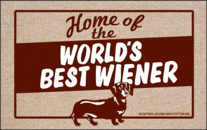 World's Best Weiner Funny Dog Doormat - Humorous Floor Mat