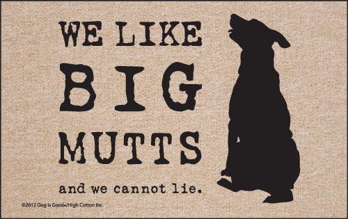 Humorous Big Mutts Funny Dog Olefin Indoor Outdoor Welcome Mat