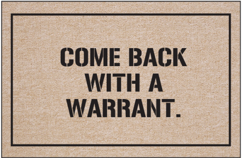 funny police doormat come back with warrant humorous welcome mat