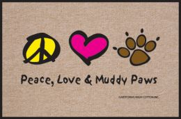 Peace, Love, Muddy Paws