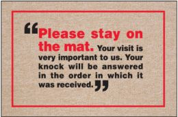 Please Stay On Mat Doormat