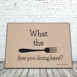 What the Fork Funny Doormat