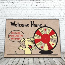 Welcome Home, Spin the Wheel Doormat - Funny