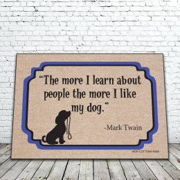 The More I Like My Dog Doormat - Funny