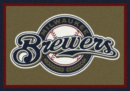 Milwaukee Brewers Spirit MLB Baseball Logo Area Rug