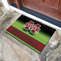 Mississippi State University Flocked Rubber Doormat - 18 x 30