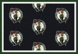 Boston Celtics NBA Repeating Logo Nylon Area Rug