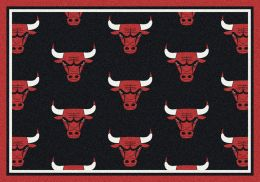 Chicago Bulls NBA Repeating Logo Nylon Area Rug