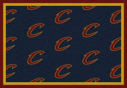 Cleveland Cavaliers NBA Repeating Logo Nylon Area Rug