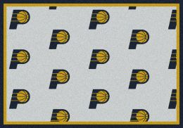Indiana Pacers NBA Repeating Logo Nylon Area Rug