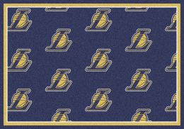 Los Angeles Lakers NBA Repeating Logo Nylon Area Rug