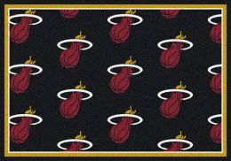 Miami Heat NBA Repeating Logo Nylon Area Rug