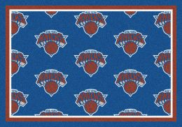 New York Knicks NBA Repeating Logo Nylon Area Rug