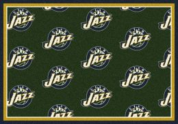 Utah Jazz NBA Repeating Logo Nylon Area Rug