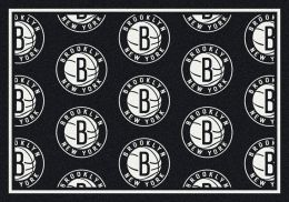 Brooklyn Nets NBA Repeating Logo Nylon Area Rug