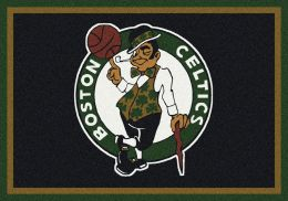Boston Celtics Spirit NBA Basketball Logo Area Rug