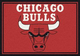 Chicago Bulls Spirit NBA Basketball Logo Area Rug