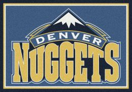 Denver Nuggets Spirit NBA Basketball Logo Area Rug