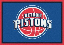 Detroit Pistons Spirit NBA Basketball Logo Area Rug