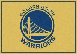 Golden State Warriorspirit NBA Basketball Logo Area Rug