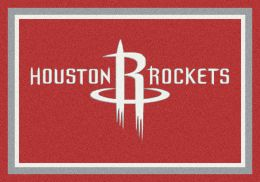 Houston Rockets Spirit NBA Basketball Logo Area Rug