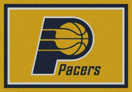 Indiana Pacers Spirit NBA Basketball Logo Area Rug