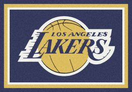 Los Angeles Lakers Spirit NBA Basketball Logo Area Rug