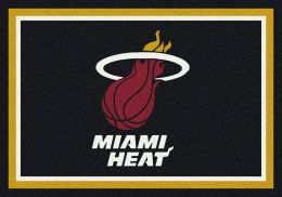 Miami Heat Spirit NBA Basketball Logo Area Rug