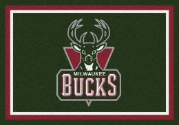 Milwaukee Bucks Spirit NBA Basketball Logo Area Rug