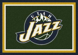 Utah Jazz Spirit NBA Basketball Logo Area Rug