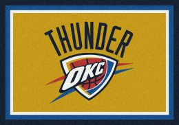 Oklahoma City Thunder Spirit NBA Basketball Logo Area Rug