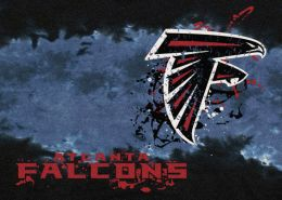 Atlanta Falcons Fade Logo Area Rug - NFL Football Mat