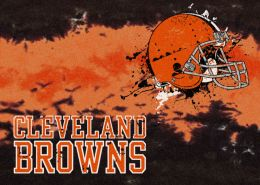 Cleveland Browns Fade Logo Area Rug - NFL Football Mat