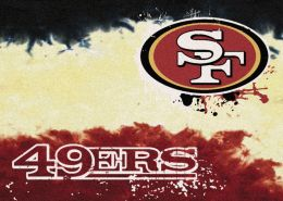 San Francisco 49ers Fade Logo Area Rug - NFL Football Mat